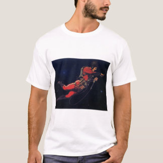 Vintage Science Fiction Astronaut in Outer Space T-Shirt