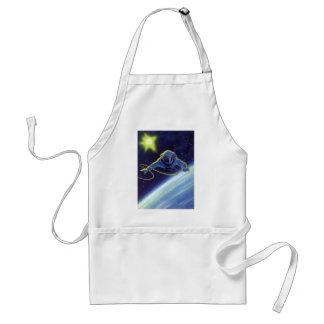 Vintage Science Fiction Astronaut on a Space Walk Standard Apron