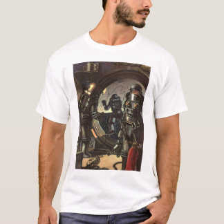 Vintage Science Fiction Astronauts on a Space Walk T-Shirt