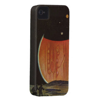 Vintage Science Fiction, Astronauts on Ganymede iPhone 4 Case-Mate Case
