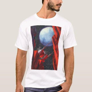 Vintage Science Fiction, Canyon Space Moon Rover T-Shirt