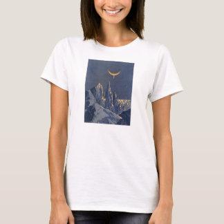 Vintage Science Fiction, Crescent Moon Snow Planet T-Shirt