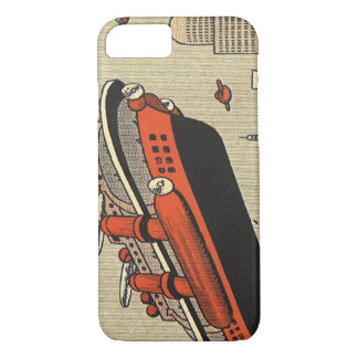 Vintage Science Fiction Cruise Ship Helicopter iPhone 7 Case