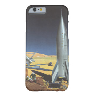 Vintage Science Fiction Desert Planet with Rockets Barely There iPhone 6 Case