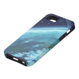 Vintage Science Fiction, Earth at Night with Stars iPhone 5 Case