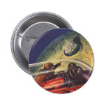 Vintage Science Fiction Flying to the Lunar Cuty Pins