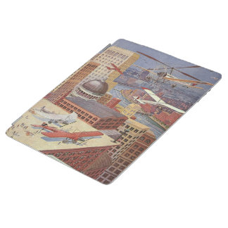Vintage Science Fiction Flying Transporation iPad Cover
