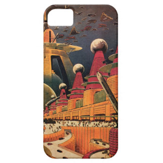 Vintage Science Fiction Futuristic City Flying Car Barely There iPhone 5 Case