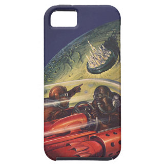 Vintage Science Fiction, Futuristic City on Moon iPhone 5 Cases