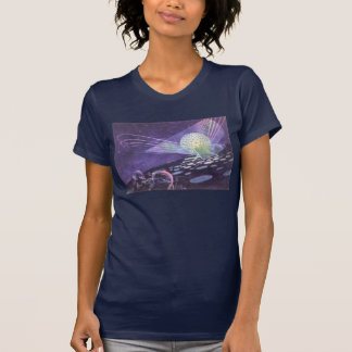 Vintage Science Fiction Glowing Orb with Aliens Tee Shirt