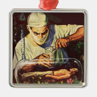 Vintage Science Fiction, Laboratory Mad Scientist Christmas Ornament