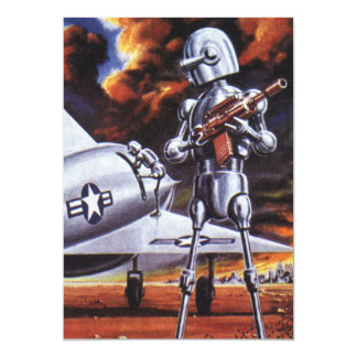 Vintage Science Fiction; Military Robot Soldiers Custom Announcement