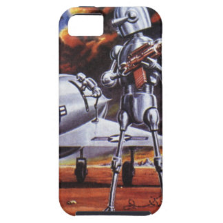 Vintage Science Fiction Military Robot Soldiers iPhone 5 Case