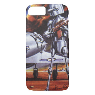 Vintage Science Fiction Military Robot Soldiers iPhone 8/7 Case