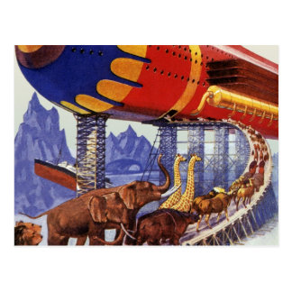 Vintage Science Fiction, Noah's Ark Wild Animals Postcard