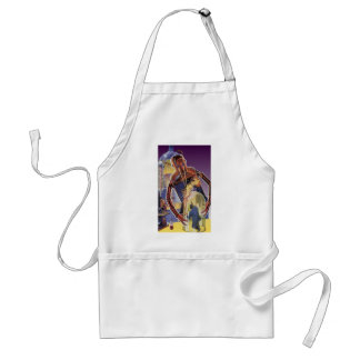 Vintage Science Fiction Robot with Laser Beam Eyes Standard Apron