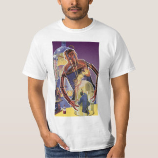 Vintage Science Fiction Robot with Laser Beam Eyes T-Shirt