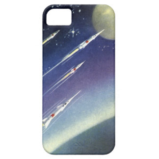 Vintage Science Fiction Rockets in Space by Planet Case For The iPhone 5