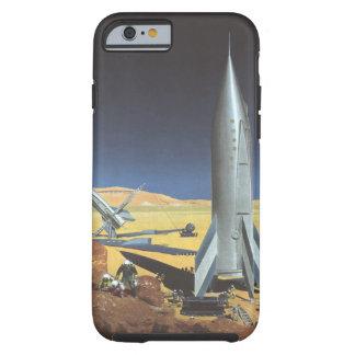 Vintage Science Fiction Rockets on Desert Planet Tough iPhone 6 Case