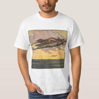 Vintage Science Fiction Seaplane Airplane Ship T Shirts