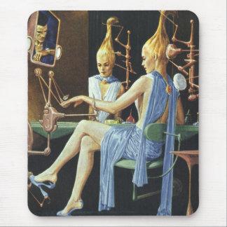 Vintage Science Fiction Spa Beauty Salon Manicures Mouse Pads
