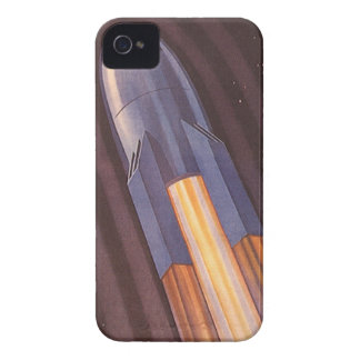 Vintage Science Fiction Space Ship Rockets iPhone 4 Case