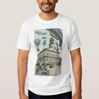 Vintage Science Fiction, Steam Punk Victorian City T-shirt