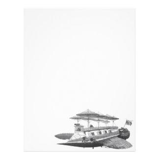 Vintage Science Fiction Steampunk Airship Eclipse 21.5 Cm X 28 Cm Flyer