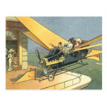 Vintage Science Fiction Steampunk Convertible Car Postcards