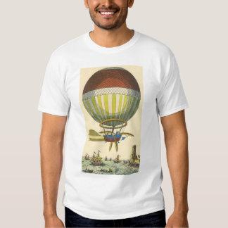 Vintage Science Fiction Steampunk Hot Air Balloon Shirt