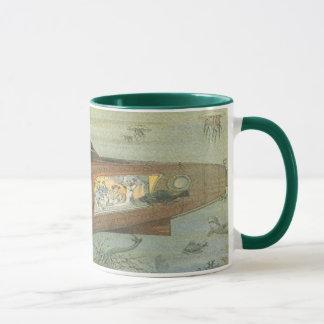 Vintage Science Fiction Steampunk Submarine in Sea Mug