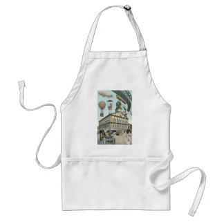 Vintage Science Fiction, Steampunk Victorian City Aprons