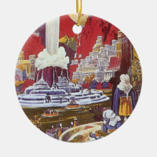 Vintage Science Fiction, the Lost City of Atlantis Christmas Ornament