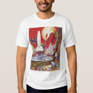 Vintage Science Fiction, the Lost City of Atlantis Tshirts