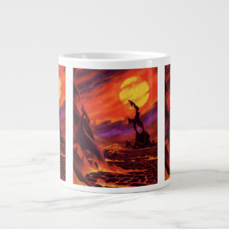 Vintage Science Fiction Volcano Planet w Red Lava Jumbo Mug