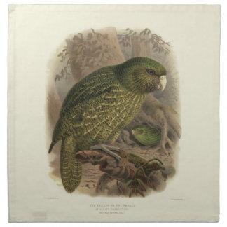 Vintage Science NZ Birds - Kakapo Cloth Napkins