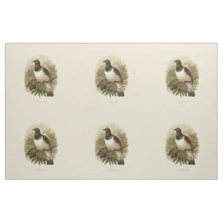 Vintage Science NZ Birds - Kereru Fabric