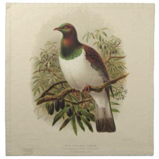 Vintage Science NZ Birds - Kereru Printed Napkins