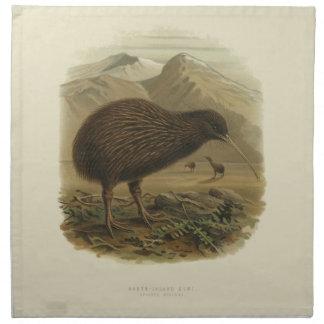 Vintage Science NZ Birds - Kiwi Cloth Napkins