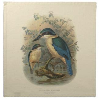 Vintage Science NZ Birds - NZ Kingfisher Printed Napkins
