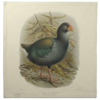 Vintage Science NZ Birds - Takahe Cloth Napkins