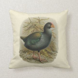 Vintage Science NZ Birds - Takahe Square Cushion