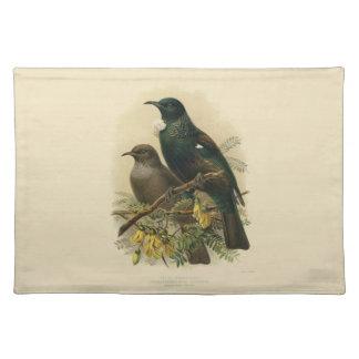 Vintage Science NZ Birds - Tui Placemat