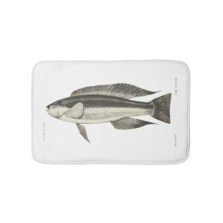 Vintage Science NZ Fish - Greenbone Bath Mat