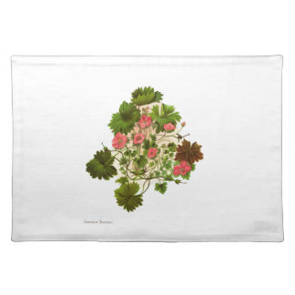 Vintage Science NZ Flowers - Geranium traversii Placemat