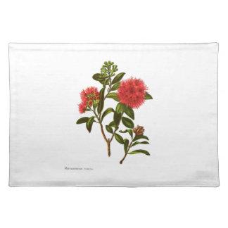 Vintage Science NZ Flowers - Meterosideros florida Placemat
