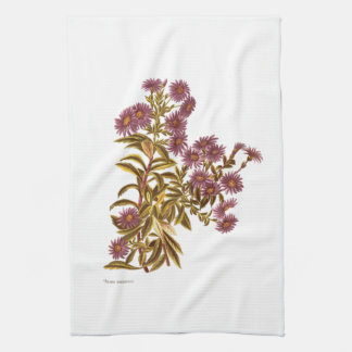 Vintage Science NZ Flowers - Olearia semidentata Tea Towel