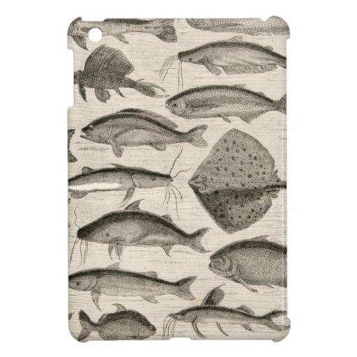 Vintage Scientific Fish Swimming Amazon River Fins iPad Mini Cover