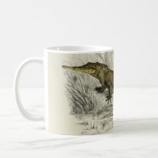 Vintage Scientific Illustration Orinoco crocodile Coffee Mug
