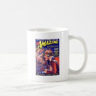 Vintage SciFi Comic Astounding Stories Buried City Basic White Mug